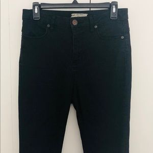 Free People Super High-Waisted Black Skinny Jeans